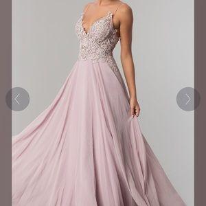 Mauve Chiffon Prom Dress by PromGirl